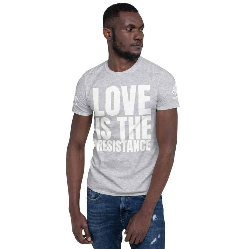 Love Is The Resistance T-Shirt Sport Grey / S Political-Activist-Socialist-Fashion -Art-And-Design