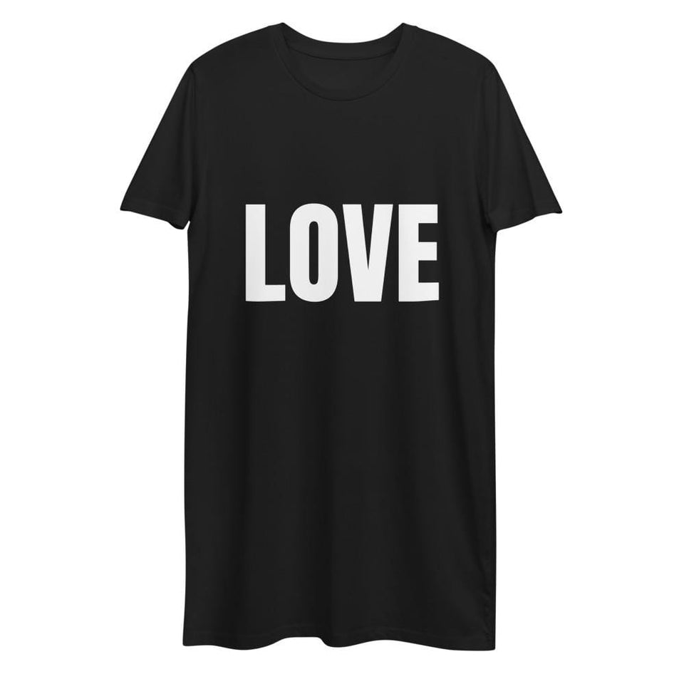 Love & Protest Organic Dress Black / XS Political-Activist-Socialist-Fashion -Art-And-Design