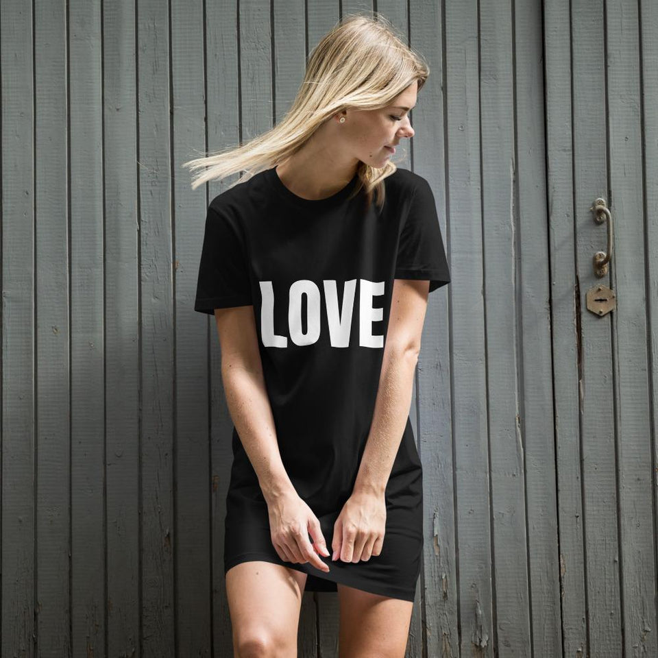 Love Protest Organic Dress Political-Activist-Socialist-Fashion -Art-And-Design