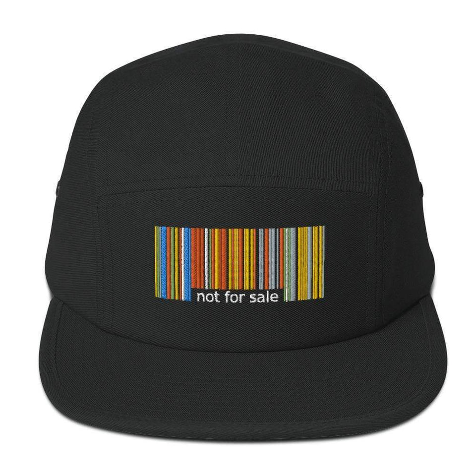 Not For Sale 5 Panel Camper Black Political-Activist-Socialist-Fashion -Art-And-Design