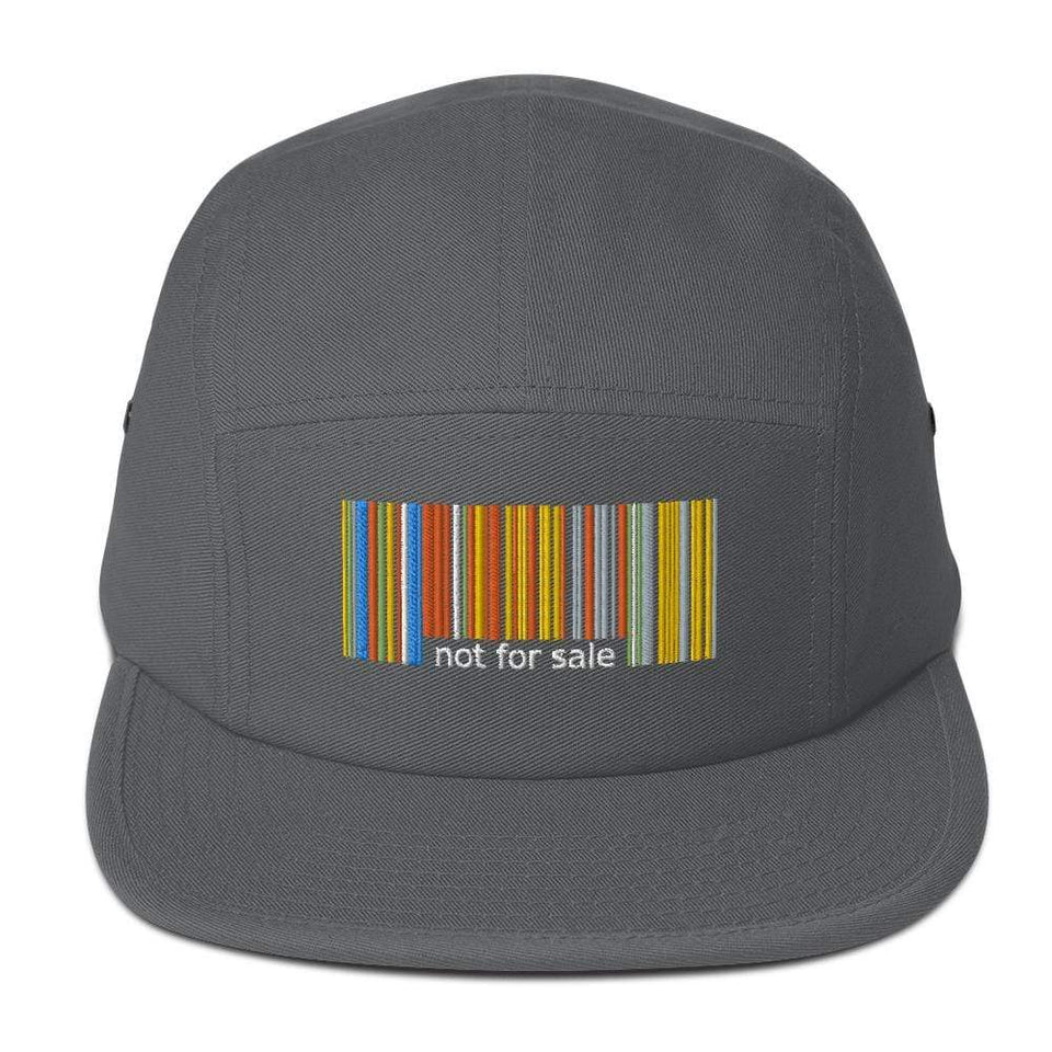 Not For Sale 5 Panel Camper Charcoal gray Political-Activist-Socialist-Fashion -Art-And-Design