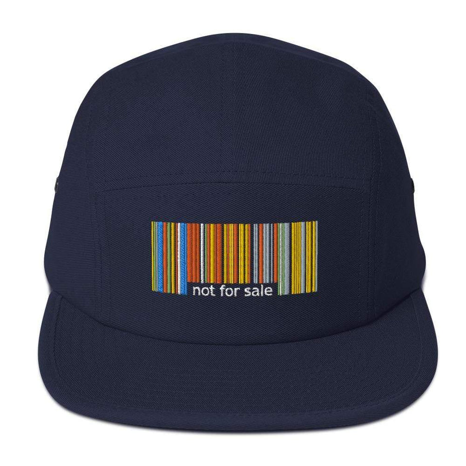 Not For Sale 5 Panel Camper Navy blue Political-Activist-Socialist-Fashion -Art-And-Design