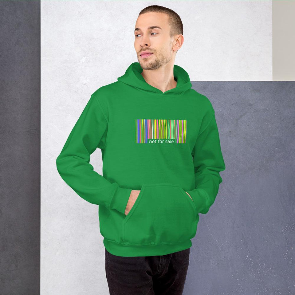 Not for Sale Hoodie Irish Green / S Political-Activist-Socialist-Fashion -Art-And-Design