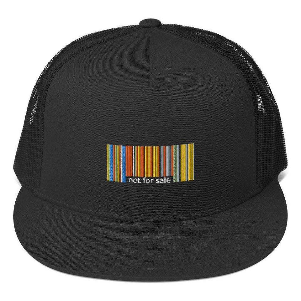 Not for Sale Trucker Cap Black Political-Activist-Socialist-Fashion -Art-And-Design
