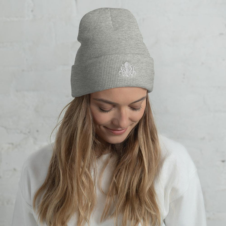 Societal Cuffed Beanie Heather Grey Political-Activist-Socialist-Fashion -Art-And-Design