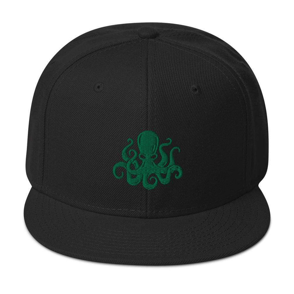 Octopus Snapback Hat Black Political-Activist-Socialist-Fashion -Art-And-Design