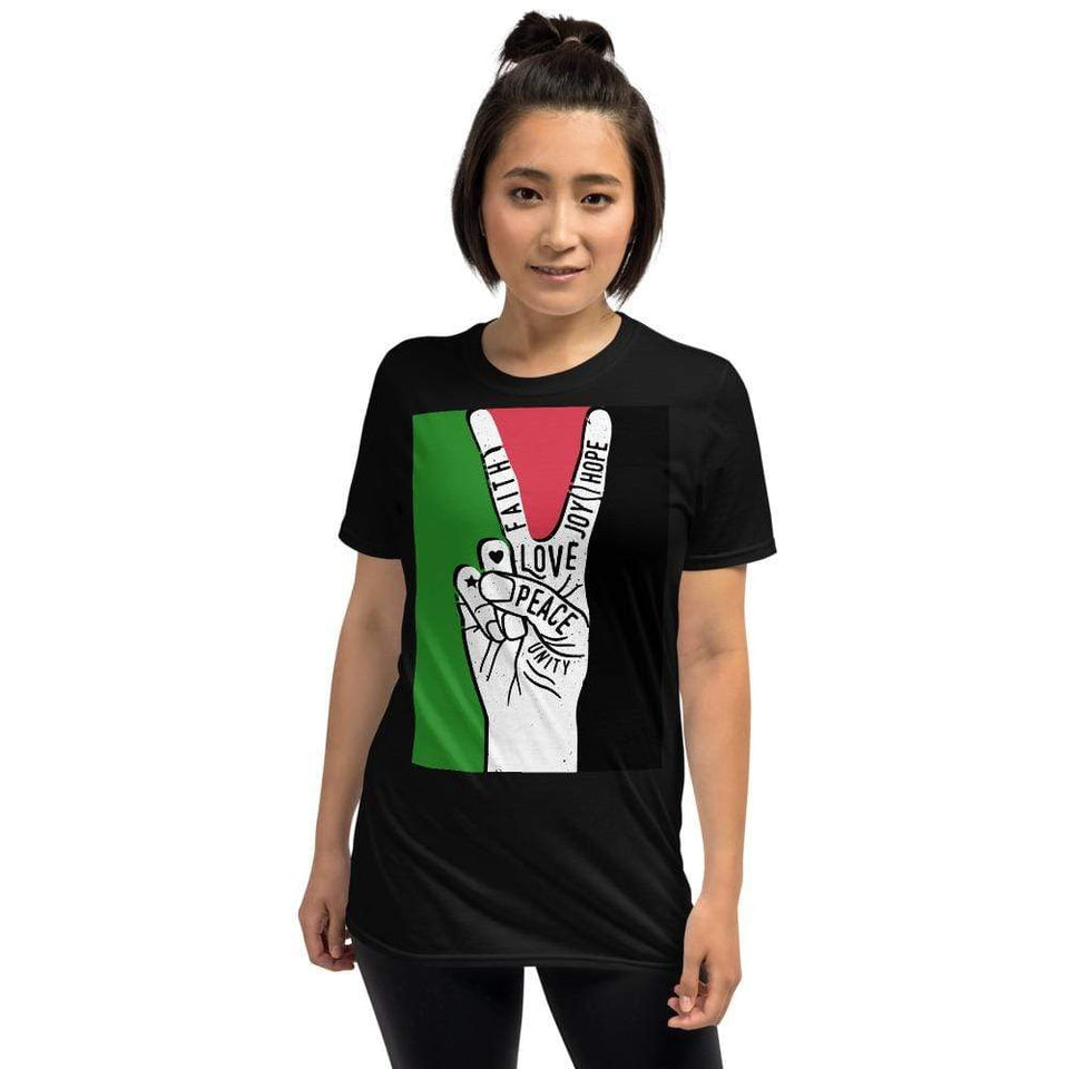 Peace For Life T-Shirt Political-Activist-Socialist-Fashion -Art-And-Design