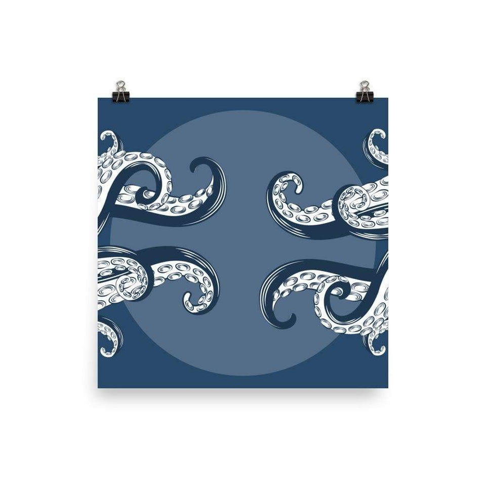 Octopus Tentacles Poster 12×12 Political-Activist-Socialist-Fashion -Art-And-Design