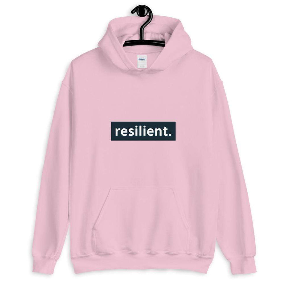 Resilient Hoodie Light Pink / S Political-Activist-Socialist-Fashion -Art-And-Design