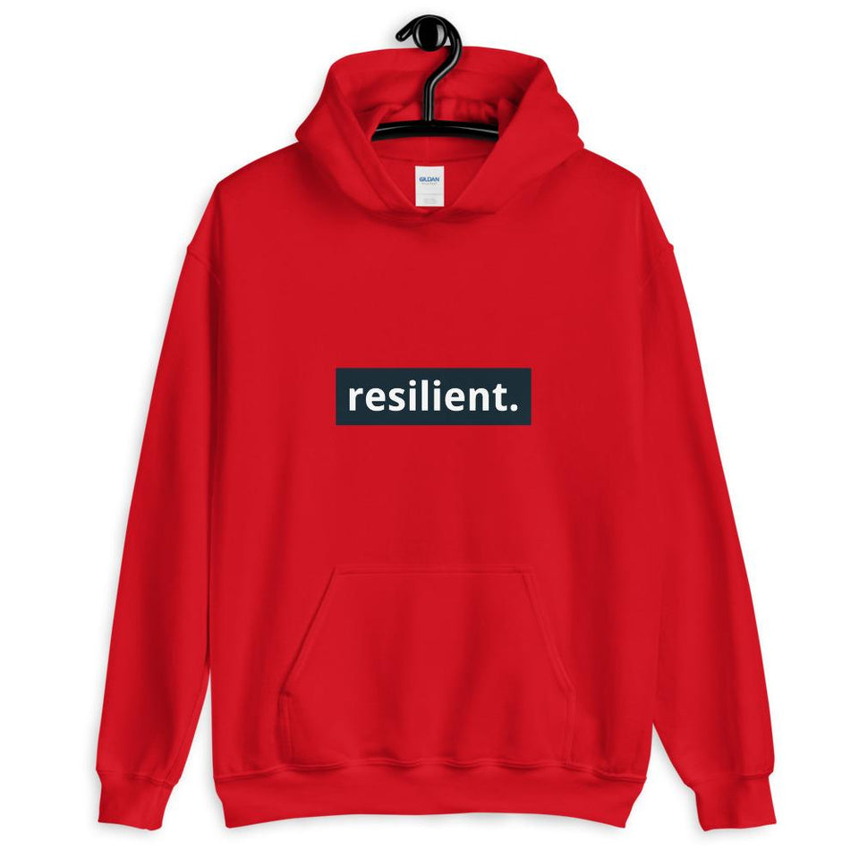 Resilient Hoodie Red / S Political-Activist-Socialist-Fashion -Art-And-Design