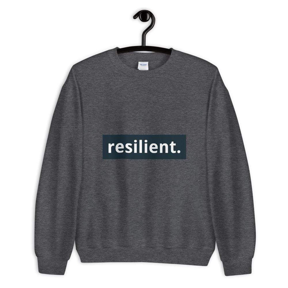 Resilient Sweatshirt Dark Heather / S Political-Activist-Socialist-Fashion -Art-And-Design