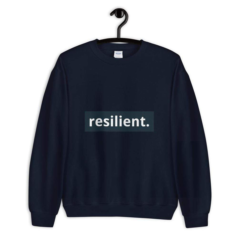 Resilient Sweatshirt Navy / S Political-Activist-Socialist-Fashion -Art-And-Design