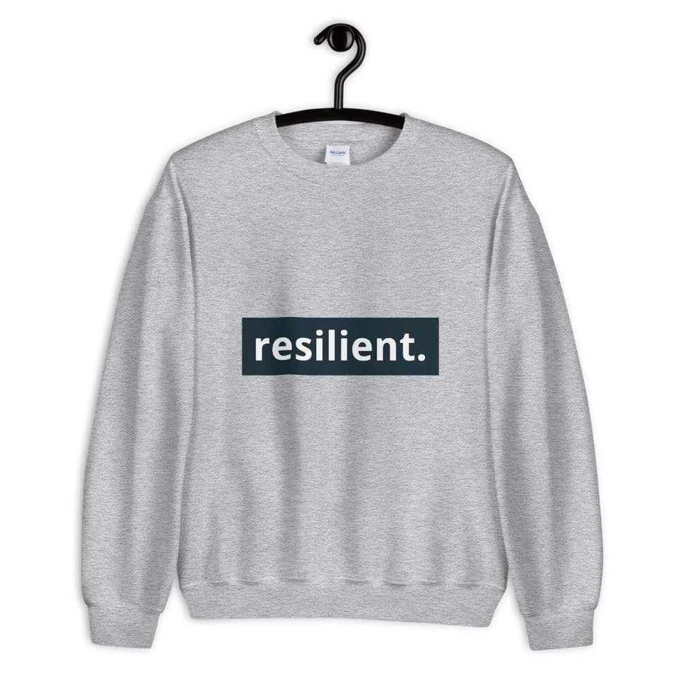 Resilient Sweatshirt Sport Grey / S Political-Activist-Socialist-Fashion -Art-And-Design