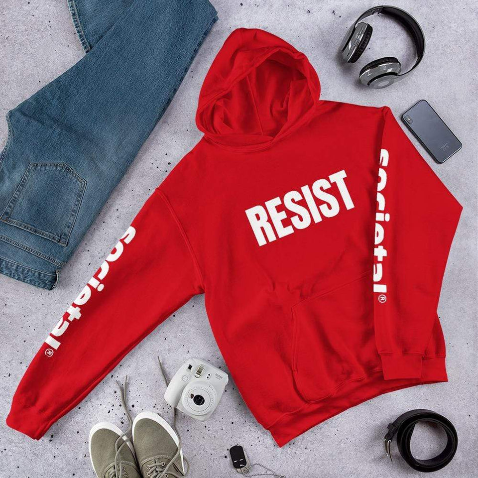 Resist Hoodie Red / S Political-Activist-Socialist-Fashion -Art-And-Design