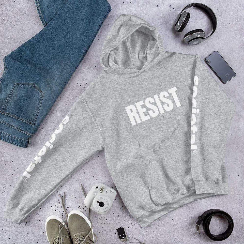 Resist Hoodie Sport Grey / S Political-Activist-Socialist-Fashion -Art-And-Design