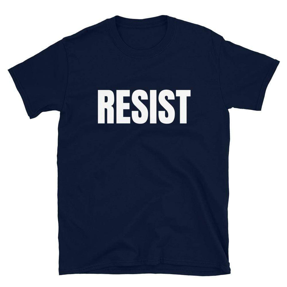 Resistance T-Shirt Navy / S Political-Activist-Socialist-Fashion -Art-And-Design