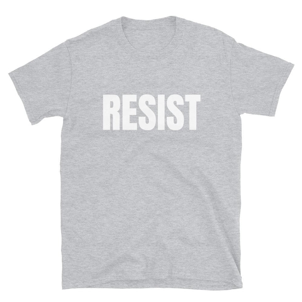 Resistance T-Shirt Sport Grey / S Political-Activist-Socialist-Fashion -Art-And-Design