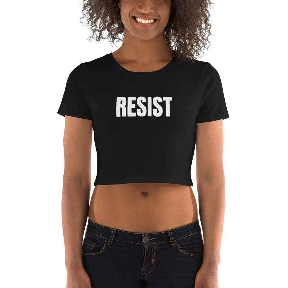 Resist Crop Tee Political-Activist-Socialist-Fashion -Art-And-Design