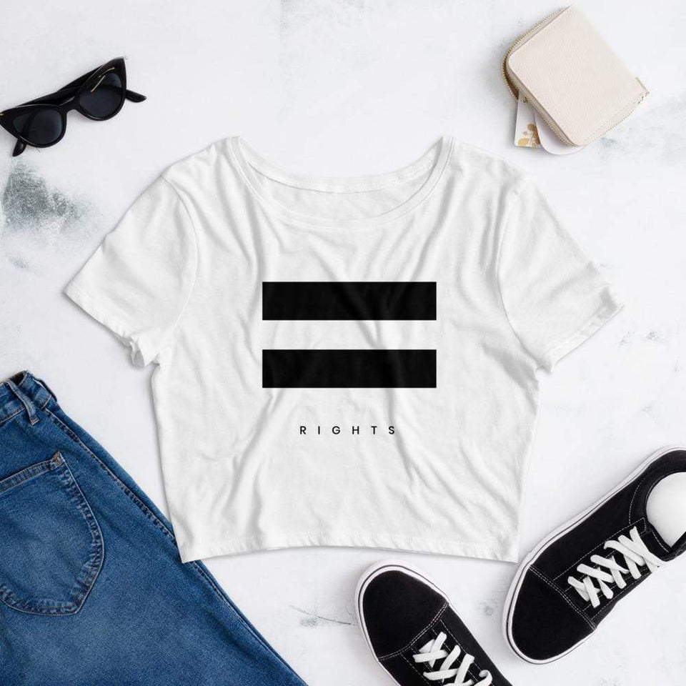 Societal Equal Rights Crop Tee Political-Activist-Socialist-Fashion -Art-And-Design