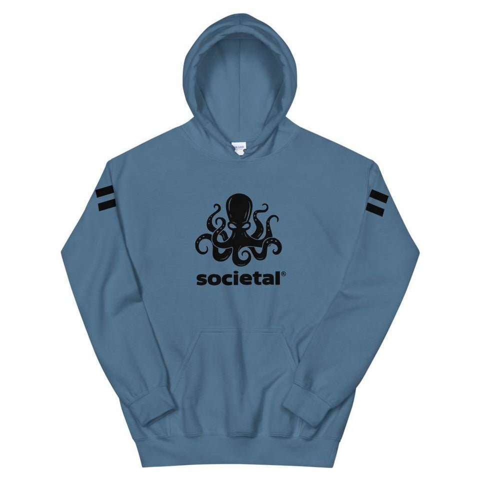 Societal Equal Rights Hoodie Indigo Blue / S Political-Activist-Socialist-Fashion -Art-And-Design
