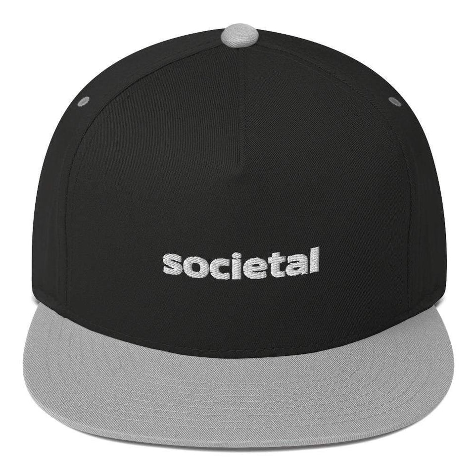 Societal Cap Black/ Grey Political-Activist-Socialist-Fashion -Art-And-Design