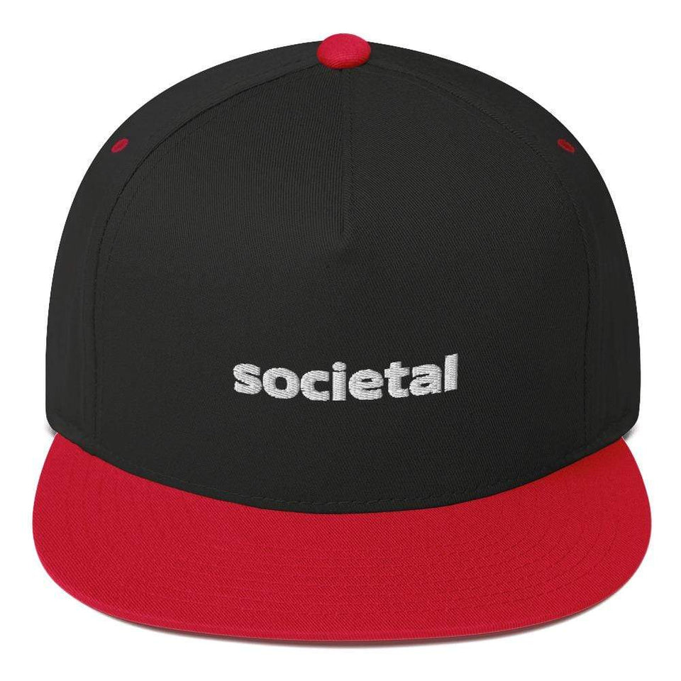 Societal Cap Black/ Red Political-Activist-Socialist-Fashion -Art-And-Design
