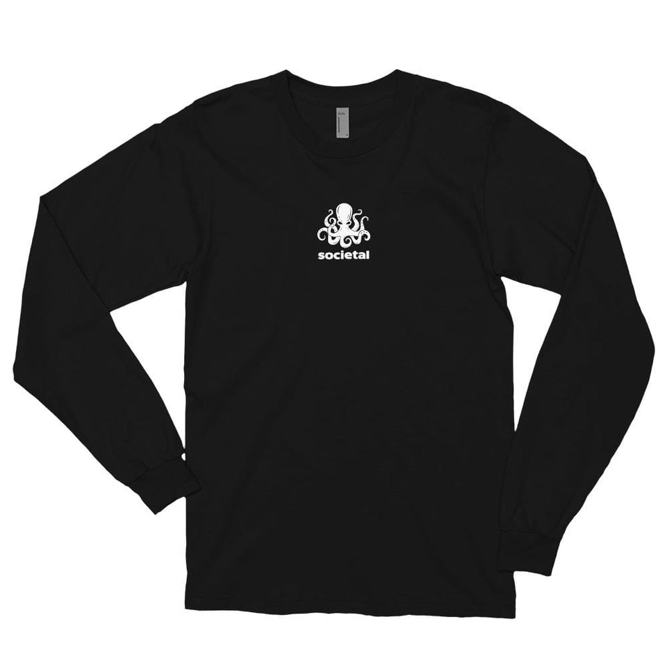 Societal Long Sleeve t-shirt Black / S Political-Activist-Socialist-Fashion -Art-And-Design