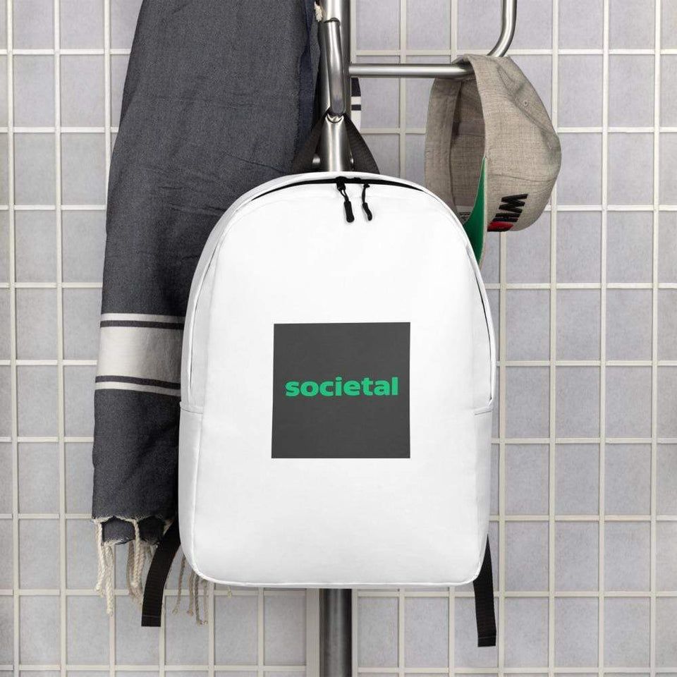 Societal Minimalist Backpack Political-Activist-Socialist-Fashion -Art-And-Design