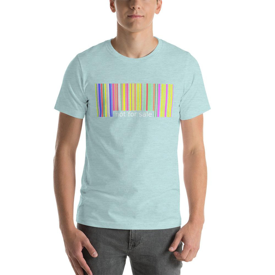 Not for Sale T-Shirt Heather Prism Ice Blue / XS Political-Activist-Socialist-Fashion -Art-And-Design