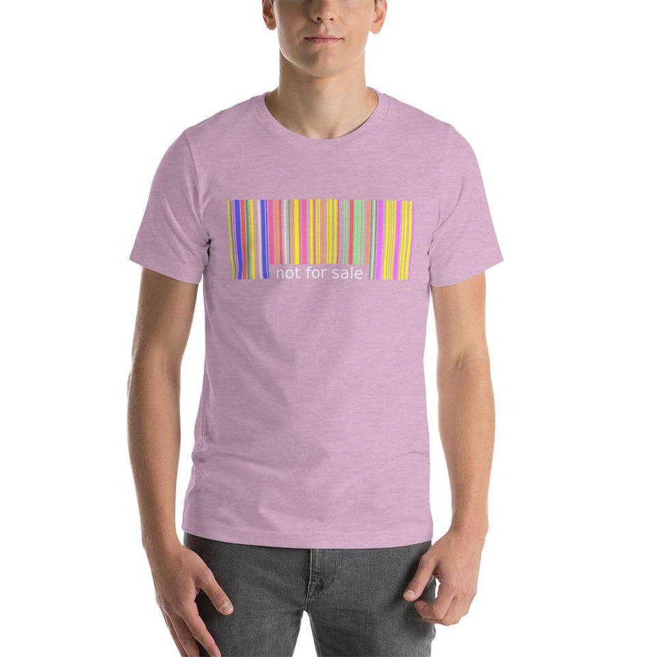 Not for Sale T-Shirt Heather Prism Lilac / XS Political-Activist-Socialist-Fashion -Art-And-Design