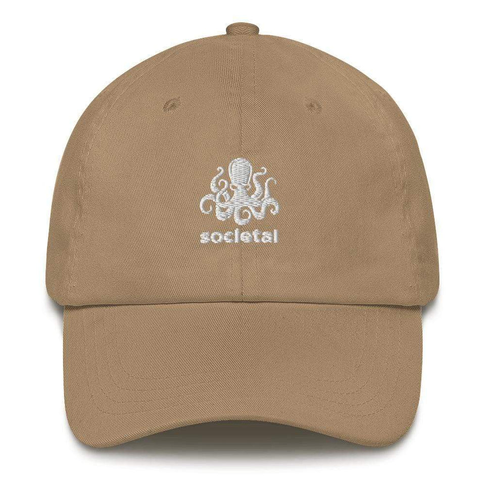 Octopus Dad hat Khaki Political-Activist-Socialist-Fashion -Art-And-Design