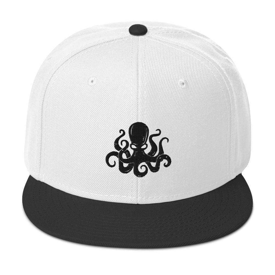 Societal Snapback Hat Black / White / White Political-Activist-Socialist-Fashion -Art-And-Design