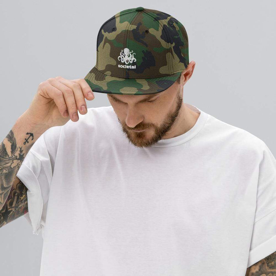 Societal Hat Green Camo Political-Activist-Socialist-Fashion -Art-And-Design