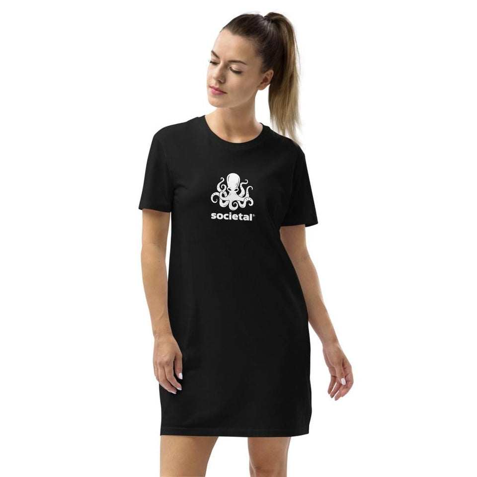 Societal Organic t-shirt dress Political-Activist-Socialist-Fashion -Art-And-Design