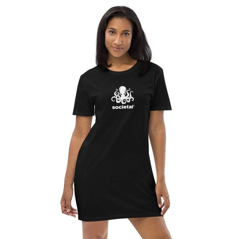 Societal Organic t-shirt dress XS Political-Activist-Socialist-Fashion -Art-And-Design