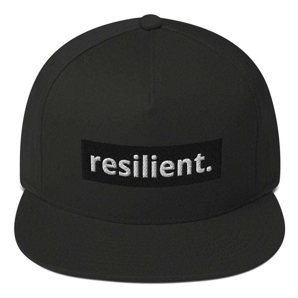 Reilient Flat Bill Cap Black Political-Activist-Socialist-Fashion -Art-And-Design