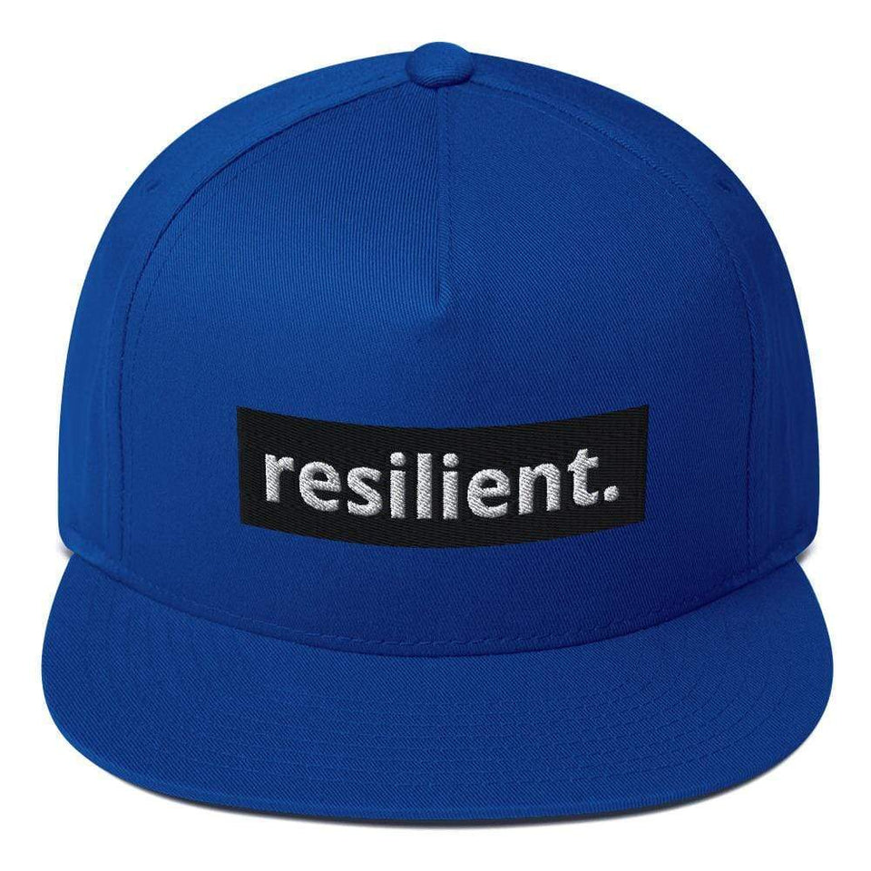 Reilient Flat Bill Cap Royal Blue Political-Activist-Socialist-Fashion -Art-And-Design