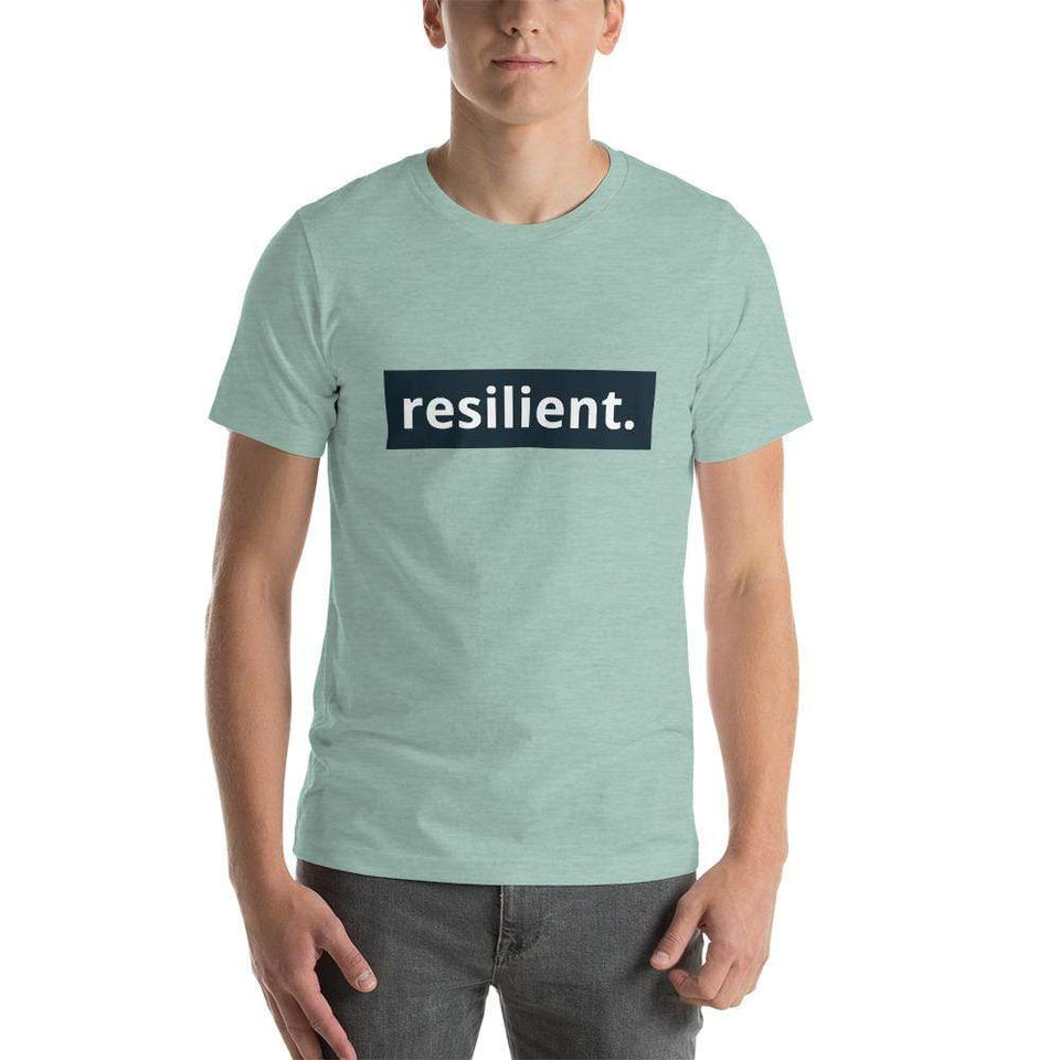Resilient Short-Sleeve Unisex T-Shirt Heather Prism Dusty Blue / XS Political-Activist-Socialist-Fashion -Art-And-Design