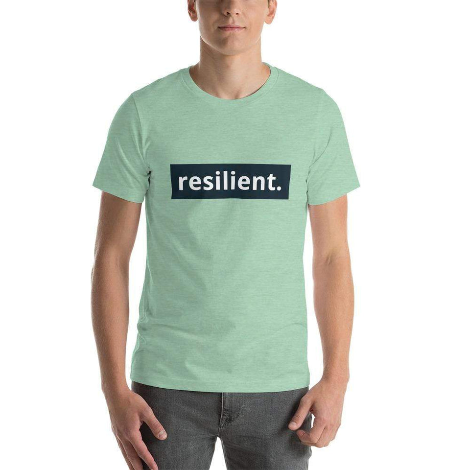 Resilient Short-Sleeve Unisex T-Shirt Heather Prism Mint / XS Political-Activist-Socialist-Fashion -Art-And-Design