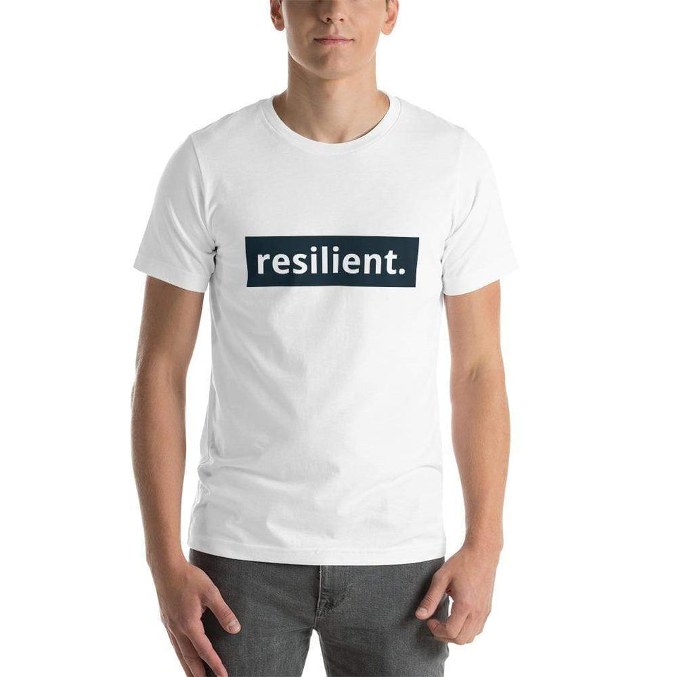 Resilient Short-Sleeve Unisex T-Shirt White / XS Political-Activist-Socialist-Fashion -Art-And-Design