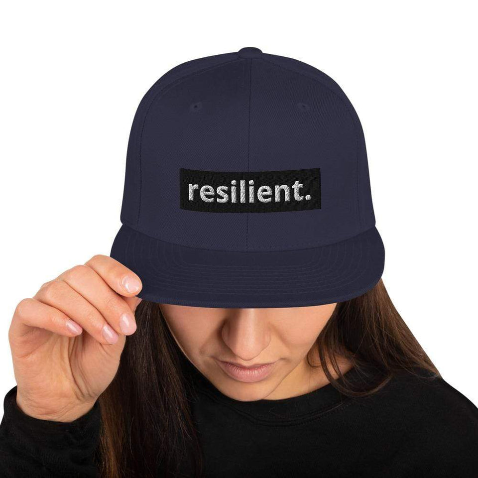 Resilient Snapback Hat Navy Political-Activist-Socialist-Fashion -Art-And-Design