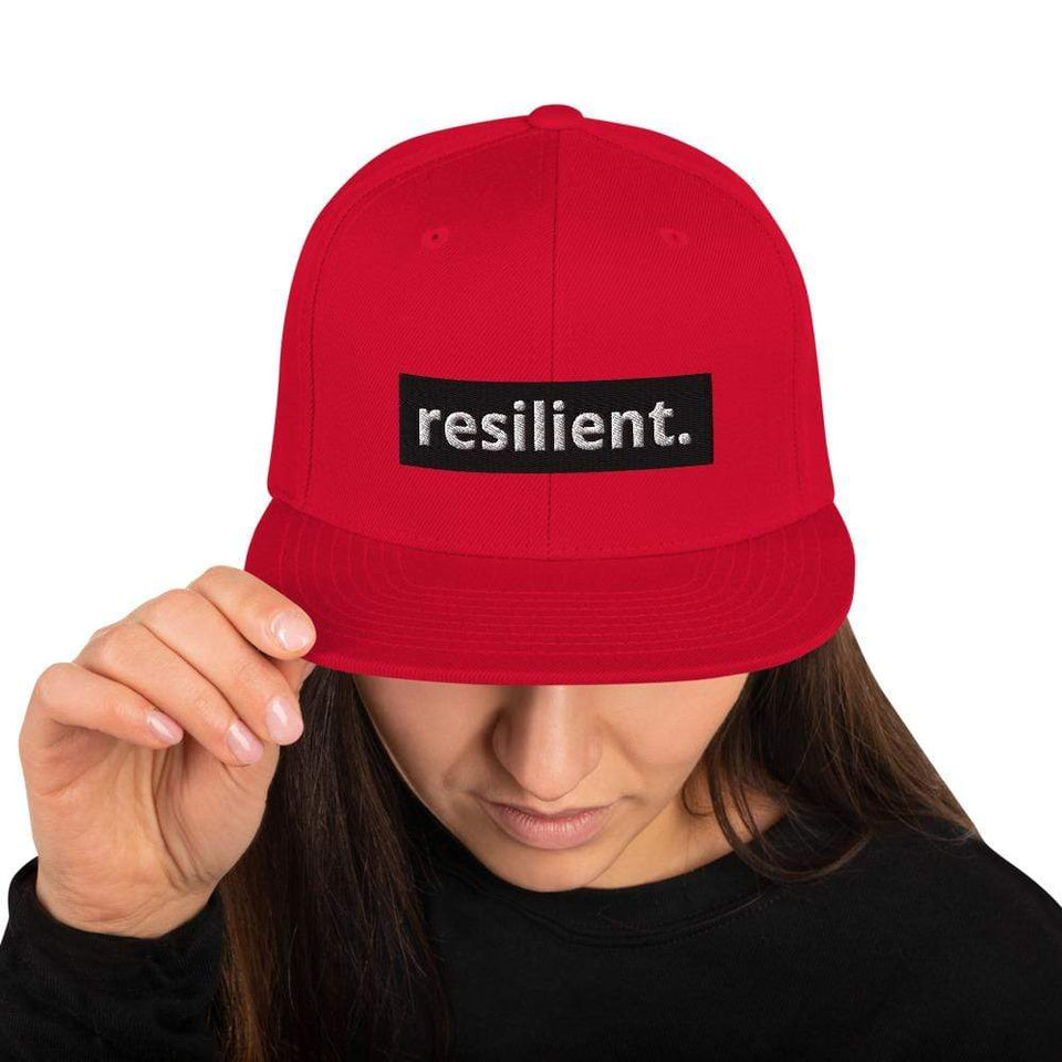 Resilient Snapback Hat Red Political-Activist-Socialist-Fashion -Art-And-Design