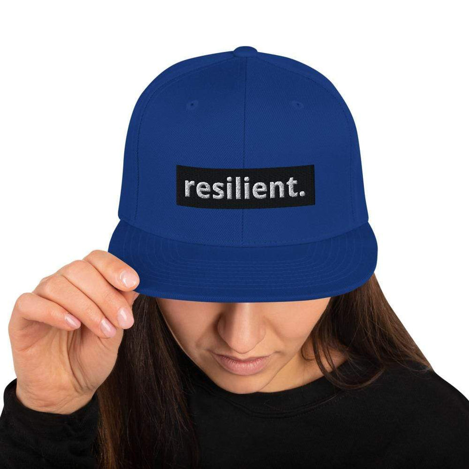 Resilient Snapback Hat Royal Blue Political-Activist-Socialist-Fashion -Art-And-Design