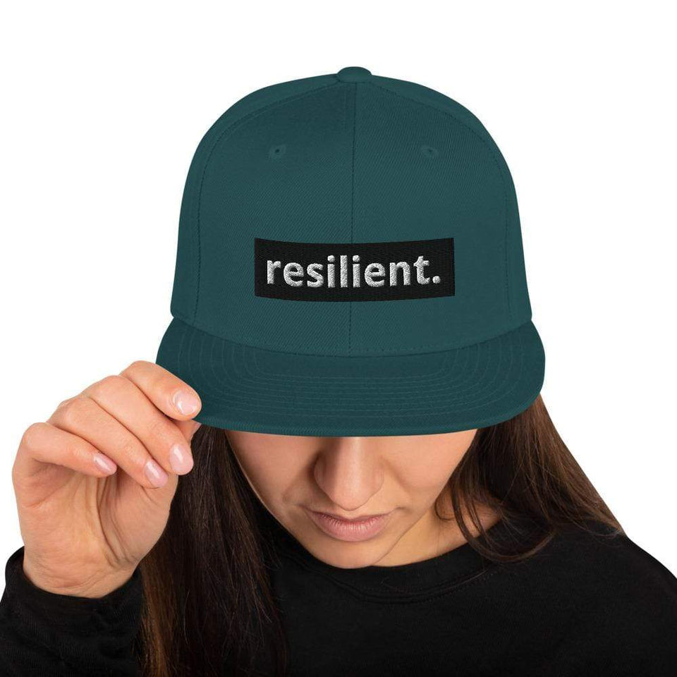 Resilient Snapback Hat Spruce Political-Activist-Socialist-Fashion -Art-And-Design