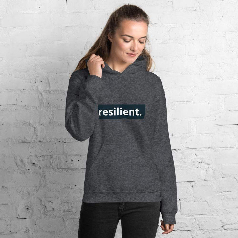 Resilient Hoodie Dark Heather / S Political-Activist-Socialist-Fashion -Art-And-Design