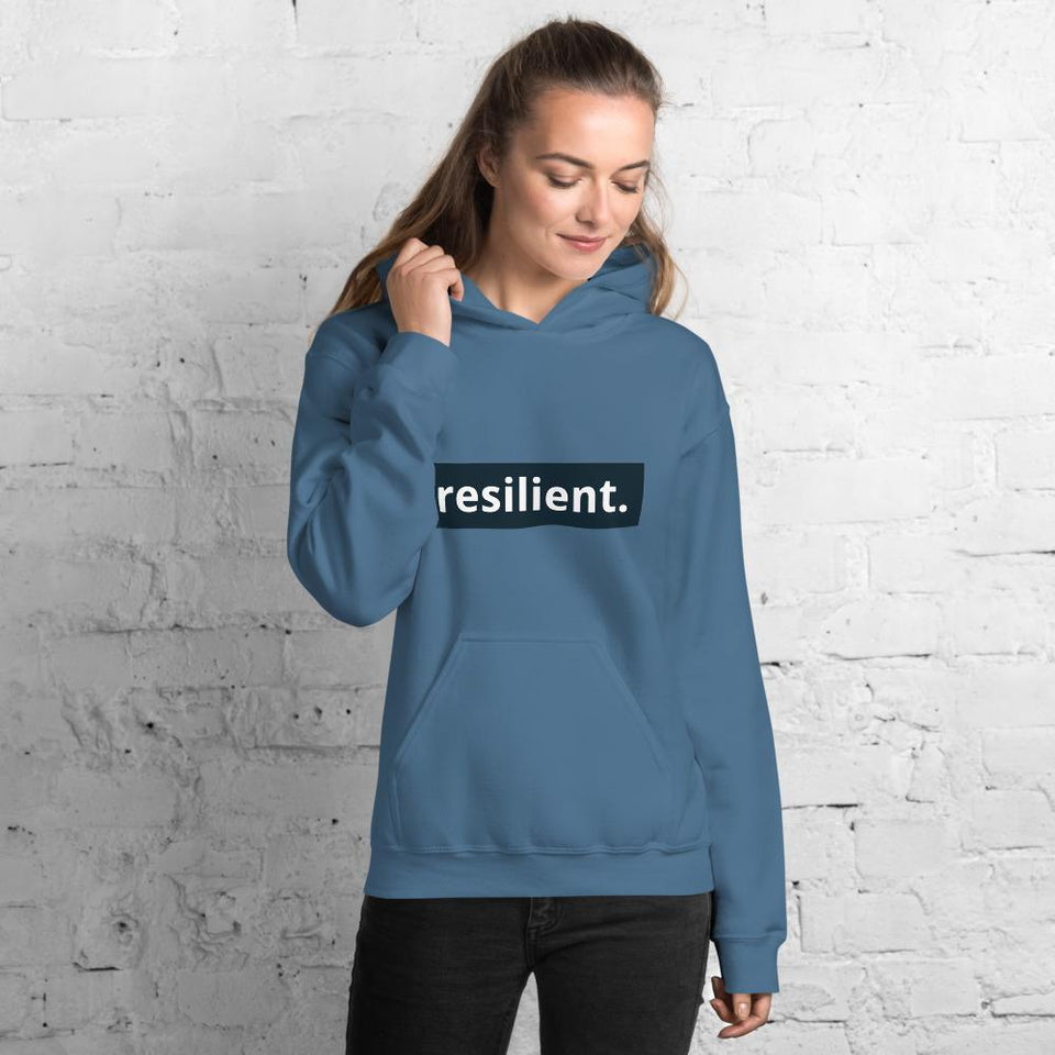 Resilient Hoodie Indigo Blue / S Political-Activist-Socialist-Fashion -Art-And-Design