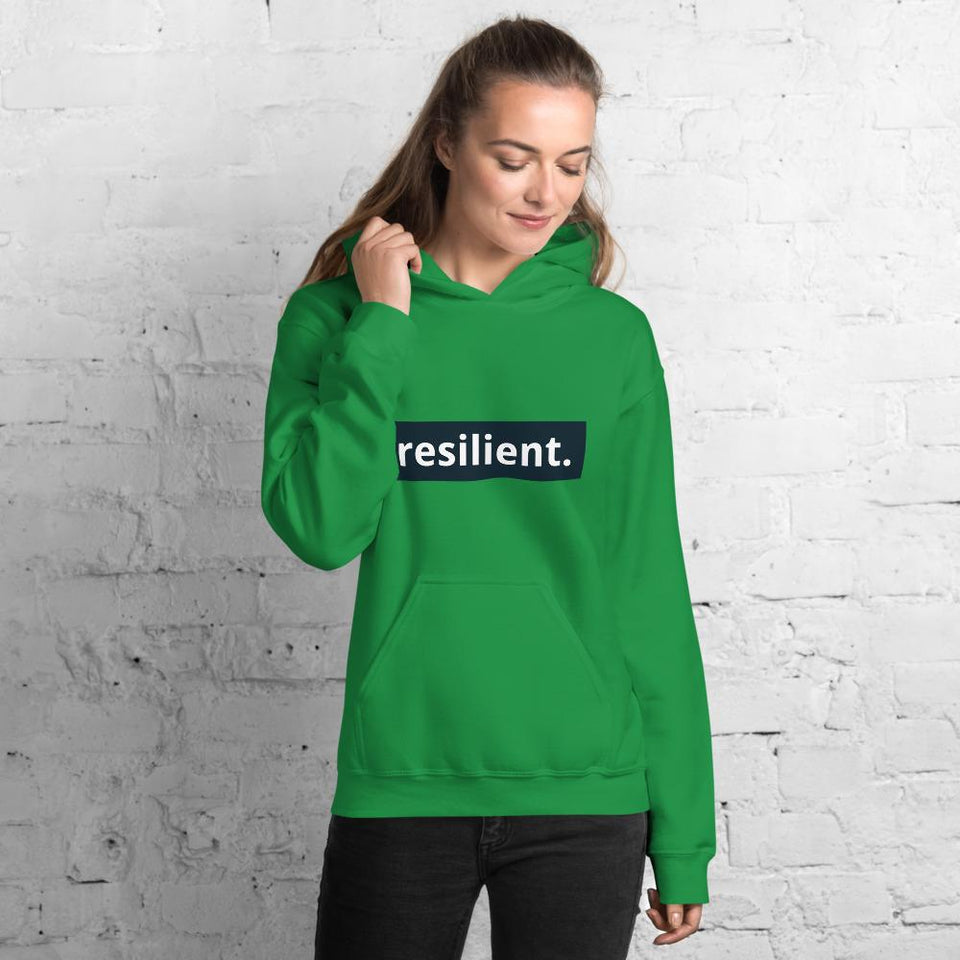 Resilient Hoodie Irish Green / S Political-Activist-Socialist-Fashion -Art-And-Design