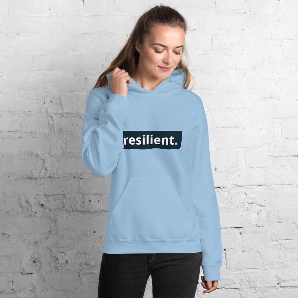 Resilient Hoodie Light Blue / S Political-Activist-Socialist-Fashion -Art-And-Design