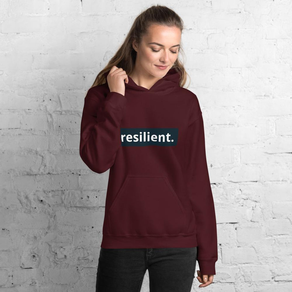 Resilient Hoodie Maroon / S Political-Activist-Socialist-Fashion -Art-And-Design