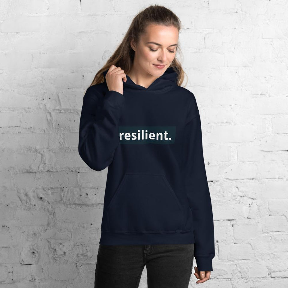 Resilient Hoodie Navy / S Political-Activist-Socialist-Fashion -Art-And-Design